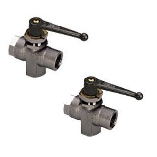 0448 04 10 - Panel-mountable 3-way ball valve