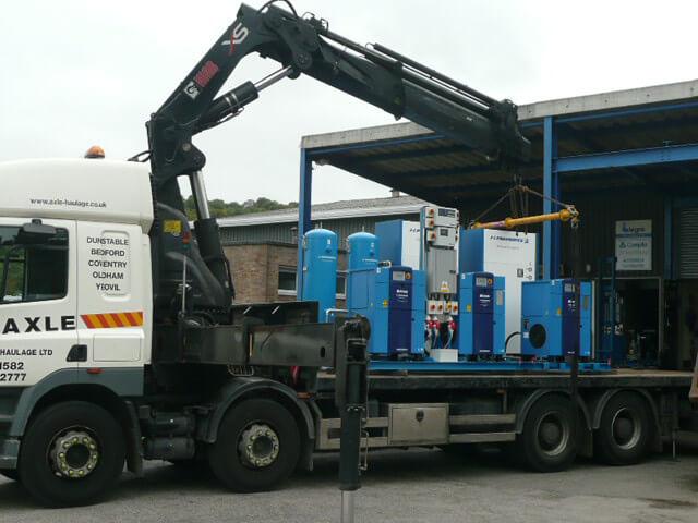 Larger Air Compressor Deliveries
