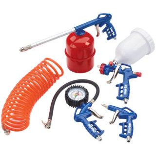 Clarke KIT1100 5 Piece Air Tool Kit With Gravity Fed Spray Gun
