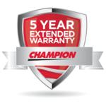Champion 5 Year Warranty
